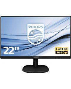 "Monitor Philips 21.5"",  Widescreen (1920x1080 Full HD) com SmartControl Lite, (VGA/HDMI), 223V5LHSB2"